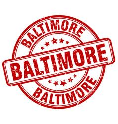 Baltimore red grunge round vintage rubber stamp vector