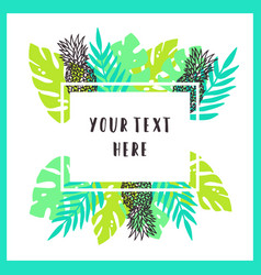 Beautiful and bright tropical frame background vector