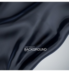 Black silk fabric vector image