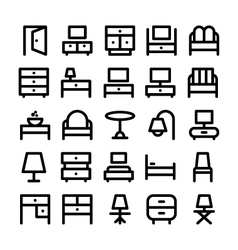 Buildings and furniture icons 6 vector