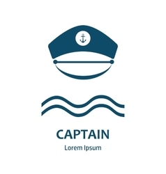 Captain hat flat icon vector
