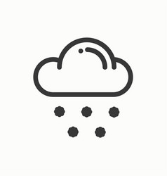cloud sky snow line simple icon weather symbols vector image vector image