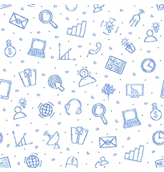 Communicationbusiness pattern blue icons vector