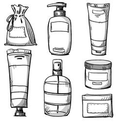 Cosmetics packaging design vector