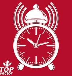 Elegant alarm clock vector