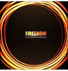 Fire show background vector image vector image