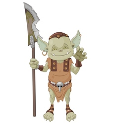 Goblin warrior vector