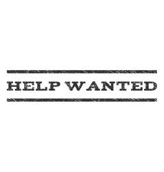 Help wanted watermark stamp vector