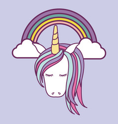Magical unicorns design vector