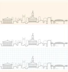Nashville hand drawn skyline vector