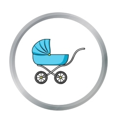 Pram icon in cartoon style isolated on white vector image vector image
