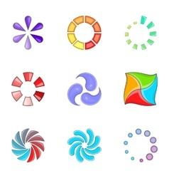 Progress loading bar icons set cartoon style vector
