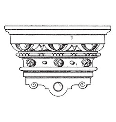Renaissance console polished nickel vintage vector