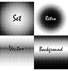Retro background circles vector