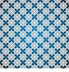 seamless with white snowflakes vector image vector image