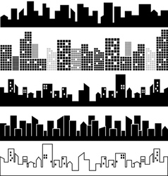 Set of city landscapes vector image vector image