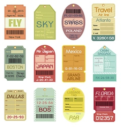 Set of Vintage Luggage Tags vector image
