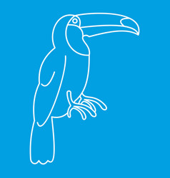 toucan icon simple style vector image