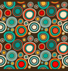 Vintage abstract seamless pattern with round vector
