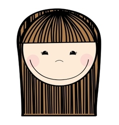Little girl cute character vector