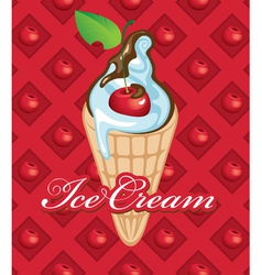 fruit ice cream vector image