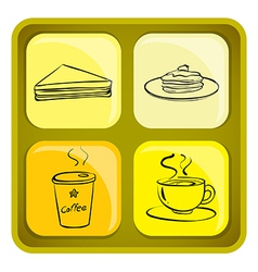Four snack icons vector image