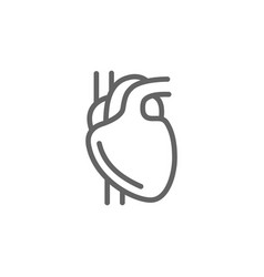 simple heart line icon symbol and sign vector image