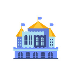 Blue majestic palace building vector