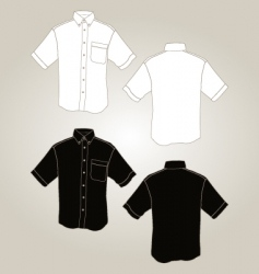 short sleeve botton up shirt vector image