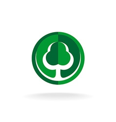 Green oak tree logo template vector