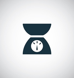 Kitchen scales icon vector