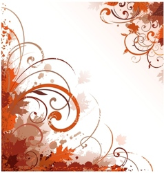 floral autumn design vector image