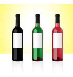 Wine bottles part 1 vector image