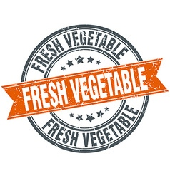 Fresh vegetable round orange grungy vintage vector