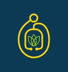 Alternative medicine logo vector