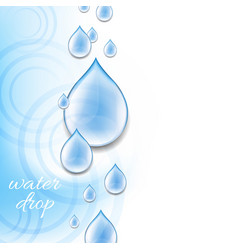 Blue background with water drops vector