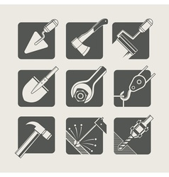 construction tools set of vector image