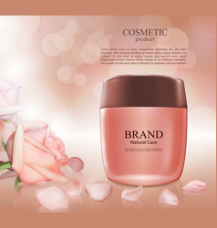 cosmetic ads postermoisturizing nourishing cream vector image vector image