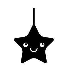 Cute star kawaii character vector