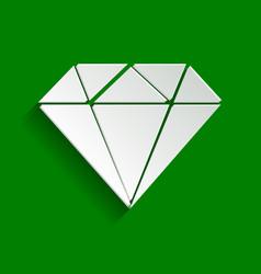Diamond sign paper whitish vector