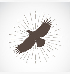 eagle on white background animal eagle symbol vector image