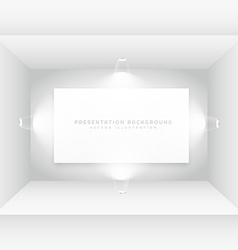 Empty room with picture frame vector