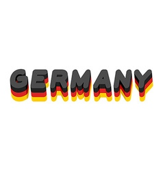 Germany lettering text of german flag emblem of vector