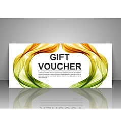 Gift voucher template abstract futuristic wave vector