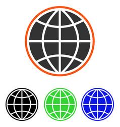 Globe flat icon vector