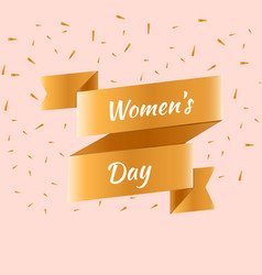 happy women s day greeting card vector image vector image