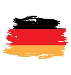Isolated german flag vector