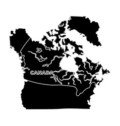 map of canada canada single icon in black style vector image vector image