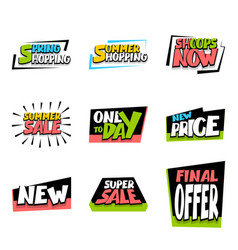 sale super big collection label price vector image