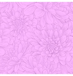 Seamless background with lilac flowers vector